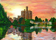 Amble Paintings - Warkworth Sunset by BJ Wight