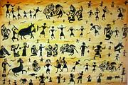 Warli Paintings - Warli Art  by Rashi  Chaturvedi
