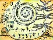 Soil Mixed Media - Warli Day by Anjali Vaidya