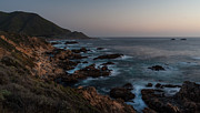 Big Sur Metal Prints - Warm California Evening Metal Print by Mike Reid