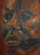 Close Up Painting Metal Prints - Warm Portrait Metal Print by Gabe Arroyo