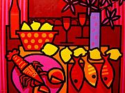 Fish Print Prints - Warm Still Life at Window Print by John  Nolan
