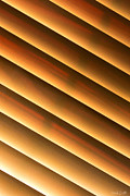 Wood Slat Background Prints - Warm Sunlight Print by Heidi Smith