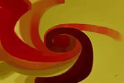 Warm Swirl Print by Ben and Raisa Gertsberg