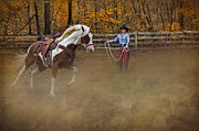 Western Wear Photos - Warming Up by Susan Candelario