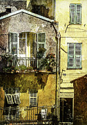Julie Palencia Digital Art Prints - Warmth of Old Villefranche Print by Julie Palencia