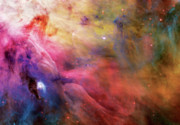 Pastels Posters - Warmth - Orion Nebula Poster by The  Vault