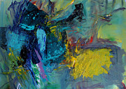 Abstract Expressionist Originals - Warning by Ethel Vrana