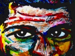 Cassius Clay Paintings - Warpaint by David Rogers