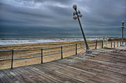 Hurricane Lamp Photos - Warped Boardwalk by Mike Horvath