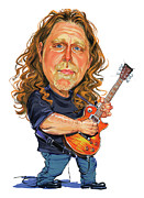 Exaggerart Painting Framed Prints - Warren Haynes Framed Print by Art