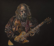Lead Drawings Posters - Warren Haynes Poster by Breyhs