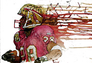 Running Back Mixed Media - Warricks Seminoles by Michael  Pattison