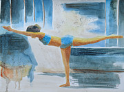 Namaste Paintings - Warrier III Namaste Yoga by Robert P Hedden