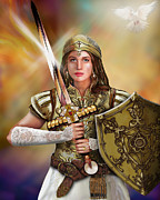Bride Of Christ Prints - Warrior Bride Of Chist Print by Todd L Thomas