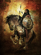 Courage Digital Art Metal Prints - Warrior Metal Print by Shanina Conway