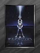 Shield Posters - Warriors Creed Poster by Cliff Hawley