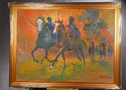 Jihad Paintings - Warriors In Return Framed by Prosper Akeni