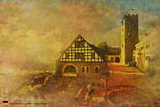 Domes Painting Prints - Wartburg Castle Print by Catf