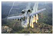 Iraq Digital Art Prints - Warthog Print by Mark Karvon
