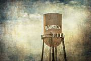 Warwick Framed Prints - Warwick Water Tower Framed Print by Cathy Kovarik