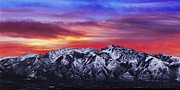 Lone Metal Prints - Wasatch Sunrise 2x1 Metal Print by Chad Dutson