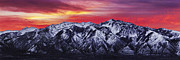 Sunrise Framed Prints - Wasatch Sunrise 3x1 Framed Print by Chad Dutson