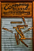 Manual Labor Framed Prints - Washboard and Clothes Pins Framed Print by Paul Ward