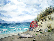 Bouys Paintings - Washed Up #2 by Jennifer  Creech