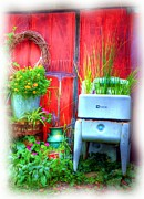 Mel Steinhauer Acrylic Prints - Washing Machine Art Acrylic Print by Mel Steinhauer