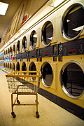 Washing Machine Posters - Washing Machines at Laundromat Poster by Amy Cicconi