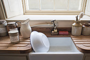 Wooden Bowl Prints - Washing up sink Print by Tom Gowanlock