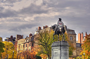 Boston Common Prints - Washington and the 617 Print by Joann Vitali