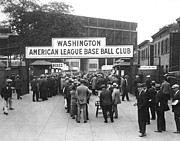 Washington Dc Baseball Posters - Washington Baseball Club Poster by Charles Somerville
