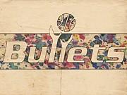 Washington Bullets Retro Poster Print by Florian Rodarte