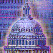 United States Of America Originals - Washington Capitol Dome by Tony Rubino