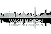 Iconic Design Mixed Media Prints - Washington DC 4 Print by Angelina Vick