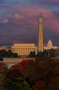 Nations Prints - Washington DC Iconic Landmarks Print by Susan Candelario