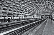 Commuting Posters - Washington DC Metro Station X Poster by Clarence Holmes