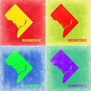 Washington Art - Washington DC Pop Art Map 2 by Irina  March