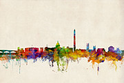 States Prints - Washington DC Skyline Print by Michael Tompsett