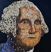 Founding Father Mixed Media - Washington by Doug Powell