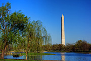 Washington Monument From Constitution Gardens Pond Print by Olivier Le Queinec
