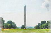 Washington Monument Paintings - Washington Monument  by Teresa Henry