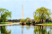 Washington D.c. Mixed Media - Washington Monument by Vizual Studio