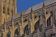 House Of Worship Framed Prints - Washington National Cathedral  Framed Print by Susan Candelario