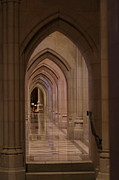 Glass Prints - Washington National Cathedral - Washington DC - 01136 Print by DC Photographer