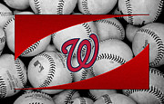 Baseball Bat Metal Prints - Washington Nationals Metal Print by Joe Hamilton