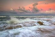 Washington Oaks State Park St. Augustine Fl - The Pastel Sea Print by Dave Allen