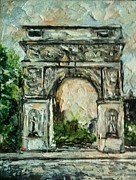 Washington Square Paintings - Washington Square Arch by Helen Wendle